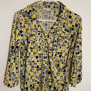 CHARTER CLUB. Woman's Yellow Black Geometric SZ SP